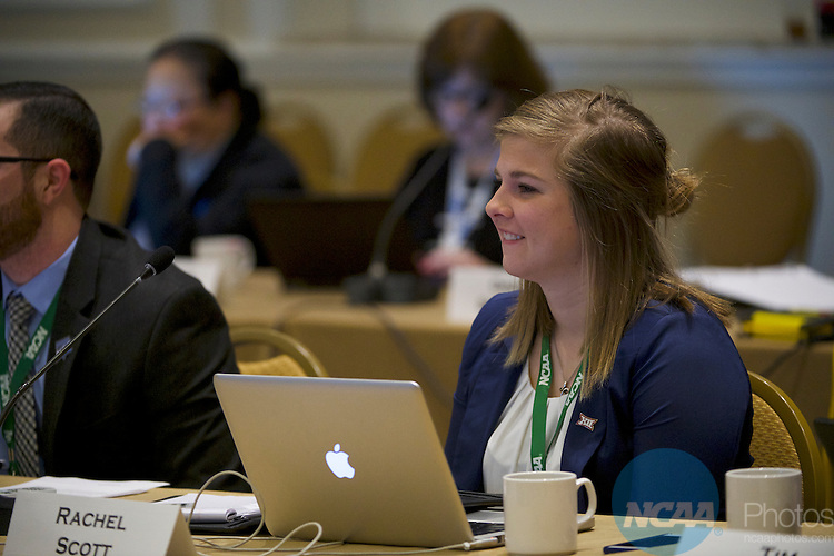 18 JAN 2017: The Division I Council meeting takes place during the 2017 NCAA Convention at the Gaylord Opryland Resort and Convention Center in Nashville, TN.  Jamie Schwaberow/NCAA Photos (Pictured:  Rachel Scott)