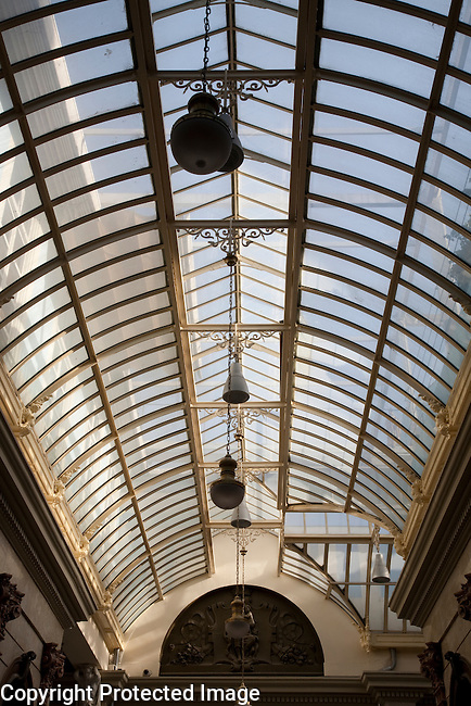 Glass Ceiling of the Main Gallery of the Royal - Real Casino of Murcia, Spain