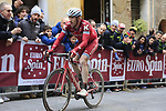 Jose Goncalves (POR) Katusha-Alpecin on the final brutal climb of Via Santa Caterina in Siena during the 2017 Strade Bianche running 175km from Siena to Siena, Tuscany, Italy 4th March 2017.<br /> Picture: Eoin Clarke | Newsfile<br /> <br /> <br /> All photos usage must carry mandatory copyright credit (&copy; Newsfile | Eoin Clarke)