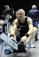 Birmingham, Great Britain,  Men's, 40-44 HWT, Gold medallist, Nik FLEMING, Mad team,  competing and celebrating  his win, at the 2008 British Indoor Rowing Championships, National Indoor Arena. on  Sunday 26.10.2008 . [Photo, Peter Spurrier/Intersport-images] .