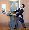 Northern Ballet dancers Hannah Bateman and Javier Torres, who will play the roles of Jane Eyre and Mr Rochester in Northern Ballet&rsquo;s new ballet, will pose in Room 24 at the National Portrait Gallery, the location of a special display Celebrating Charlotte Bront&euml;: 1816 &ndash; 1855, which includes portraits of the famous literary family and treasures on loan from the Bront&euml; Parsonage Museum, Haworth.<br /> <br /> National Portrait Gallery, London, Great Britain 20th April 2016<br /> <br /> On the eve of the 200th anniversary of Charlotte Bront&euml;&rsquo;s birth, which falls on 21 April 2016, Northern Ballet has partnered with the National Portrait Gallery to bring two dancers from its upcoming World Premi&egrave;re of Jane Eyre to London. <br /> <br /> <br /> <br /> Hannah Bateman and Javier Torres<br /> <br /> <br /> <br /> <br /> Photograph by Elliott Franks <br /> Image licensed to Elliott Franks Photography Services
