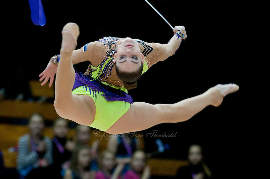 "February 13, 2016 - Tartu, Estonia - CARMEL KALLEMAA of Estonia performs in the All-Around at ""Miss Valentine"" 2016 international tournament."