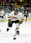 30 November 2009: University of Vermont Catamount forward Chris McCarthy, a Freshman from Collegeville, PA, in action against the Yale University Bulldogs at Gutterson Fieldhouse in Burlington, Vermont. The Catamounts shut out the Bulldogs 1-0 in a rematch of last season's first round of the NCAA post-season playoff Tournament. Mandatory Credit: Ed Wolfstein Photo