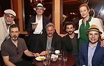 Anthony Azizi, Dariush Kashani, Jefferson Mays, Jeff Still, Michael Aronov, and Jennifer Ehle and J.T. Rogers attends the 2017 New York Drama Critics' Circle Awards Reception at Feinstein's / 54 Below on 5/18/2017 in New York City.