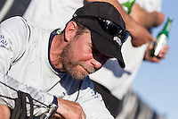 BRAZIL, Itajai. 6th April 2012. Volvo Ocean Race. Thomas Johanson, Helmsman, Puma Ocean Racing Powered by BERG.