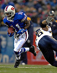 3 December 2006: Buffalo Bills wide receiver Roscoe Parrish (11) in action against the San Diego Chargers at Ralph Wilson Stadium in Orchard Park, New York. The Charges defeated the Bills 24-21. Mandatory Photo Credit: Ed Wolfstein Photo<br />