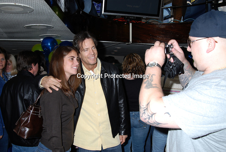 Bradley Cole and fan..at The Gus Bus Harbor Cruise on October 15, 2006 on World Yacht Boat Temptress.                                         Robin Platzer, Twin Images