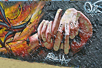 Graffiti, Colorful, Artwork, Venice Beach, CA, LA Hand Sign, Symbol, Boardwalk, creative, outlet, graffiti park,