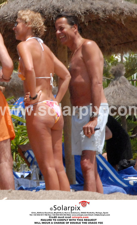 EXCLUSIVE PICTURES FROM SOLARPIX.COM..Aristocratic socialite Sofía de Habsburgo with her husband on holiday in Marbella on the southern coast of Spain on 20.07.06 .  Job Ref: 2638/SPA..MUST CREDIT SOLARPIX OR DOUBLE USAGE FEE CHARGED....