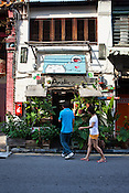 Locals seen going in to the Amelie Cafe in old part of capital Georgetown of Penang, Malaysia. Photo: Sanjit Das/Panos
