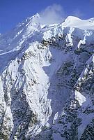 Celeno and Ocypete peaks, Twaharpies mountains, Wrangell St. Elias National Park, Alaska.