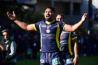 Joy for Fritz Lee of Clermont after the European Champions Cup semi final match between AS Clermont and Leinster on April 23, 2017 in Clermont-Ferrand, France. (Photo by Dave Winter/Icon Sport)