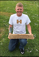 Treasure hunter discovers 2000-year-old Roman ingot.