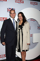 LOS ANGELES - FEB 24:  Lord Frederick Windsor, Sophie Winkleman arrives at the GREAT British Film Reception at the British Consul General's Residence on February 24, 2012 in Los Angeles, CA.