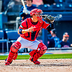 28 February 2017: Washington Nationals catcher Jose Lobaton in Spring Training action during the inaugural game against the Houston Astros at the Ballpark of the Palm Beaches in West Palm Beach, Florida. The Nationals defeated the Astros 4-3 in Grapefruit League play. Mandatory Credit: Ed Wolfstein Photo *** RAW (NEF) Image File Available ***