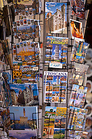 Souvenir stall in shop on the Ponte Vecchio, Florence, Tuscany, Italy