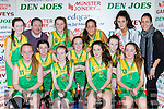 The Kerry Green team that played St Marys in the u14 Girls final at the St Marys Christmas basketball blitz in Castleisland on Friday front row l-r: Aisling Brosnan, maryann Fleming, Alice O'Leary, Katie Brosnan, Laurie Adams, Emer Burke, amy Harrington. Back row: Ciara Rath, Tommy O'Connor, Jade Potts, Tania Salvado Michaela Ahern Miss Basketball and Montse Salvado