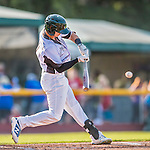 4 September 2016: Vermont Lake Monsters outfielder Steven Pallares in action against the Lowell Spinners at Centennial Field in Burlington, Vermont. The Lake Monsters fell to the Spinners 8-3 in NY Penn League action. Mandatory Credit: Ed Wolfstein Photo *** RAW (NEF) Image File Available ***