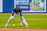 1 March 2017: Miami Marlins infielder Dee Gordon in Spring Training action against the Houston Astros at the Ballpark of the Palm Beaches in West Palm Beach, Florida. The Marlins defeated the Astros 9-5 in Grapefruit League play. Mandatory Credit: Ed Wolfstein Photo *** RAW (NEF) Image File Available ***