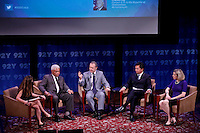 "L-R: Chrystia Freeland , Editor Thomson Reuters Digital , Charles ray , Former Ambbasador to Zimbabwe,  Arturo Sarukhan Ambassador of Mexico of the United States R- and Dino Patti , Ambassador of Indonesia to the United States and Victoria Esser , Deputy Assistant U.S State during the ""Social Good Summit"" in New York, United States. 11/16/2012. Photo by Kena Betancur/VIEWpress."