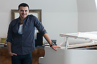 """Moscow, Russia, 08/03/2011..Azerbaijani rock singer Emin Agalarov in his Moscow apartment. Agalarov has released 5 albums, and his first UK album """"Memory"""" is due for release. He is also the commercial director of the Crocus International company, founded by his father."""
