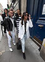 Khloé Kardashian, Kourtney Kardashian, Kendall Jenner, Kylie Jenner, Kris Jenner shopping in Paris
