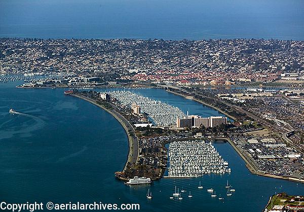 aerial photograph  Harbor Island San Diego California