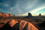 Sunrise, Monument Valley, UT. View taken near Visitors Center.