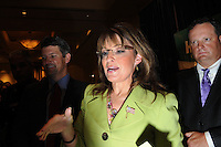 ATLANTA, GA - August 9, 2010: Sarah Palin greets supporters after endorsing Karen Handel in the Georgia Republican Gubernatorial Runoff for governor at the Buckhead InterContinental Hotel. <br /> <br /> Handel lost the runoff to Nathan Deal one day later.