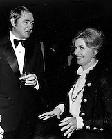 Actor Claude Jarman Jr. with Joanne Woodward at fundraiser event in 1973. (photo by Ron Riesterer)