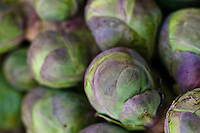 Brussel sprouts at a farmers market.