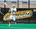 10 April 2011: University of Vermont Catamount attacker Derek Lichtfuss, a Senior from Lutherville, MD, in action against the University at Albany Great Danes on Moulton Winder Field in Burlington, Vermont. The Catamounts defeated the visiting Danes 11-6 in America East play. Mandatory Credit: Ed Wolfstein Photo