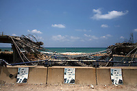 Saida, Lebanon, July 21 2006.Since the beginning of the recent conflict 10 days ago, the Israeli Air Force has been destroying important infrastuctures such as roads, bridges, gas stations, power pplants, etc. in Lebanon, especially in the south of the country leading to a important humanitarian crisis.