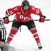 Jimmy DeVito (RPI - 20) - The Harvard University Crimson defeated the visiting Rensselaer Polytechnic Institute Engineers 5-2 in game 1 of their ECAC quarterfinal series on Friday, March 11, 2016, at Bright-Landry Hockey Center in Boston, Massachusetts.