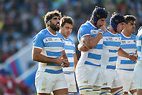Juan Martin Fernandez Lobbe of Argentina looks on. Rugby World Cup Pool C match between Argentina and Tonga on October 4, 2015 at Leicester City Stadium in Leicester, England. Photo by: Patrick Khachfe / Onside Images