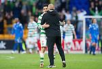 St Johnstone v Celtic.....12.04.11.Neil Lennon hugs Beram Kayal at full time.Picture by Graeme Hart..Copyright Perthshire Picture Agency.Tel: 01738 623350  Mobile: 07990 594431