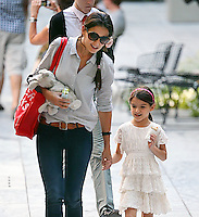 Suri Cruise with mom Katie Holmes in New York