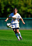 19 September 2010: University of Vermont Catamount defender Megan Rozumalski, a Sophomore from Middleburgh, NY, in action against the Colgate University Raiders at Centennial Field in Burlington, Vermont. The Raiders scored a pair of second half goals two minutes apart to notch a 2-0 victory over the Lady Cats in non-conference women's soccer play. Mandatory Credit: Ed Wolfstein Photo
