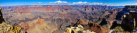 United States, Arizona, Grand Canyon. The views from Maricopa Point cover 180° of the Grand Canyon. Panorama view.