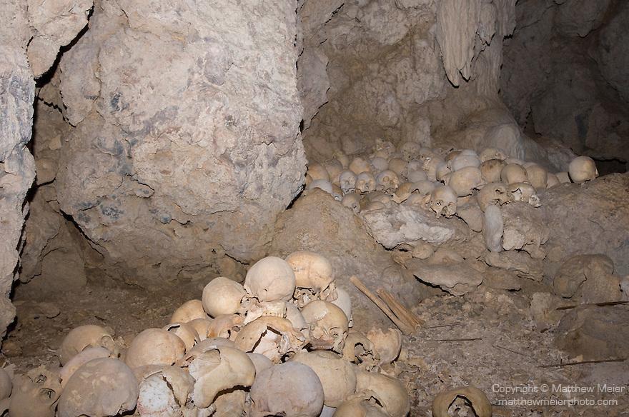 Milne Bay, Papua New Guinea; interior, skull cave , Copyright © Matthew Meier, matthewmeierphoto.com