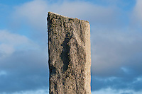 Detail of Callanish standing stone, Isle of Lewis, Outer Hebrides, Scotland