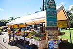 Maui, Hawaii.  The Ono Farm stand in Hana, Maui.