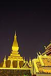 Phra That Luang, Vientiane, Laos at Night