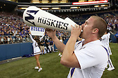 Sept 01, 2012:  Washington cheerleaders pumped up the crowed against San Diego State.  Washington defeated San Diego State 21-12 at CenturyLink Field in Seattle, Washington...