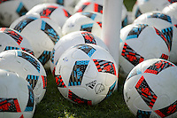 Toronto, ON, Canada - Friday Dec. 09, 2016: Balls during training prior to MLS Cup at BMO Field.
