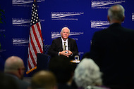 Washington, DC - February 14, 2017: U.S. Senator Ben Cardin listens to an audience question during a discussion about U.S.-Russia relations at the Center for American Progress in the District of Columbia February 14, 2017.   (Photo by Don Baxter/Media Images International)