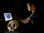 Dr. Matthew Tocheri creates a 3D scan of the cranium of LB1 - the type specimen for Homo floresiensis, or the Flores hobbit.