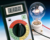 LIGHT BULB FILAMENT GLOWS BRIGHTLY AT NORM VOLTAGE<br />