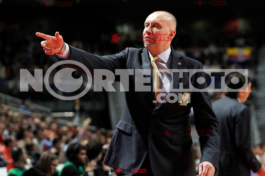 BC Khimki MR's coach Rimas Kurtinaitis during Euroleague 2012/2013 match.November 23,2012. (ALTERPHOTOS/Acero) /NortePhoto