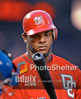 21 June 2008: Washington Nationals' left fielder Wily Mo Pena in action against the Texas Rangers at Nationals Park in Washington, DC. The Rangers defeated the Nationals 13-3 in the second game of their 3-game inter-league series...Mandatory Photo Credit: Ed Wolfstein Photo